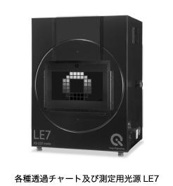 各種透過チャート及び測定用光源LE7